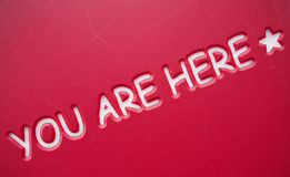 You are here royalty free stock photos
