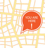 You are here. Abstract you are here design Royalty Free Stock Photo