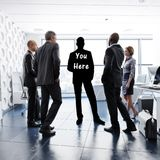 You here concept. Finding your business identity through leadership, teamwork, ambition ect. Royalty Free Stock Photography