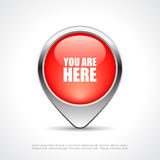 You are here map marker. You are here vector map marker Stock Images