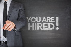 You are hired on Blackboard Royalty Free Stock Photo