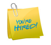 You are hired post illustration design Stock Photos