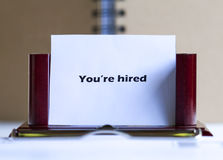You are hired Stock Images