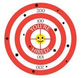 You Are Hired Target Employment Job Hunting Royalty Free Stock Image