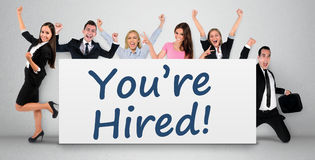 You are hired word Stock Images