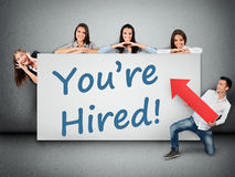 You are hired word Royalty Free Stock Photos
