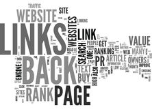 Are You Hung Up On Page Rank And Back Links Word Cloud. ARE YOU HUNG UP ON PAGE RANK AND BACK LINKS TEXT WORD CLOUD CONCEPT Stock Photos