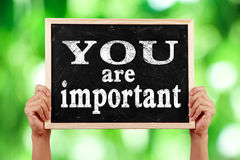 You are important Royalty Free Stock Image