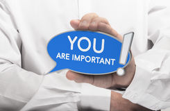 You are Important Quote, Self-Confidence Concept Stock Image