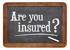 Are you insured question Royalty Free Stock Images