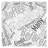 Before You Invest in a Coffee Franchise word cloud concept vector background Royalty Free Stock Photography