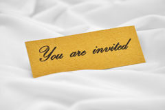 You are invited. Close up of You are invited Stock Images
