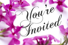 You Are Invited Stock Photo