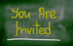 You Are Invited Concept Royalty Free Stock Photography