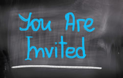You Are Invited Concept Stock Images