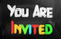 You Are Invited Concept Royalty Free Stock Image