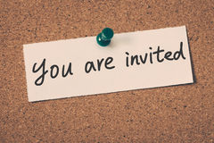 You are invited Royalty Free Stock Photography