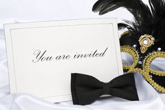 You are invited to mask party Royalty Free Stock Images