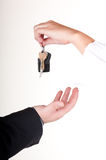 You just bought a car - close up royalty free stock photography