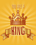You are a king greeting card Stock Photos