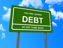 You are leaving debt sign Stock Images