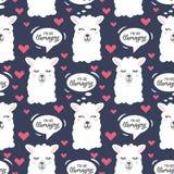 You are llamazing llama seamless pattern. Cute llama drawing w