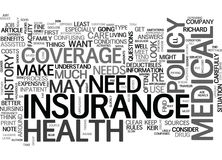 Before You Look For Health Insurance Word Cloud Stock Image