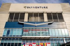 The SkyVenture Laval. Are you looking for an indoor activity near Montreal, an original experience with great thrills that you can enjoy with friends or family? stock photo