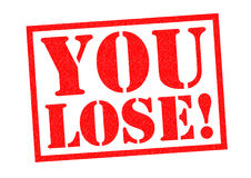 YOU LOSE!. Red Rubber Stamp over a white background Stock Image