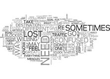 Are You Lost Or Are You Found Word Cloud. ARE YOU LOST OR ARE YOU FOUND TEXT WORD CLOUD CONCEPT Stock Images