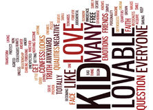 Are You Lovable Word Cloud Concept Royalty Free Stock Images