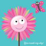 You Made My Day Card Royalty Free Stock Photos
