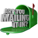 Are You Mailing It In Question Mailbox Lazy Bad Performance Stock Image