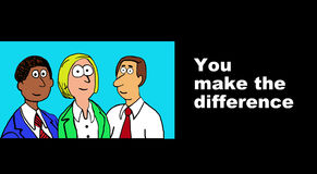 You Make the Difference Royalty Free Stock Photography