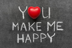 You make me happy Royalty Free Stock Images