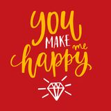 You make me happy Royalty Free Stock Photo
