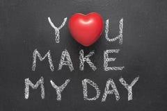 You make my day heart Stock Photos