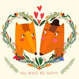 You Make My Happy card in bright colors. Stock Image
