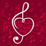 'You make my heart sing' poster Stock Image