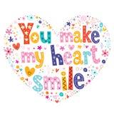 You make my heart smile Stock Photos