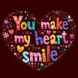 You make my heart smile Stock Photography