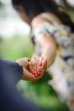 You marred me?. Wedding ring diamond royalty free stock photo