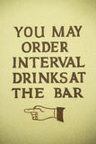 You may order interval drinks at the bar Royalty Free Stock Photos