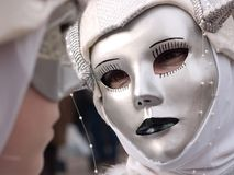 You and Me. Two masks at Venice Carnival Stock Photos