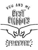 You and Me, Best Buddies Forever royalty free illustration