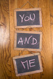 You and me Stock Image