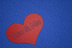 You and Me Heart Shaped Patch Royalty Free Stock Image