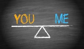 You and Me - Partnership Balance royalty free stock image