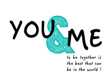 You and me postcard Royalty Free Stock Image