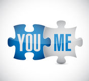 You and me puzzle illustration design Royalty Free Stock Photography